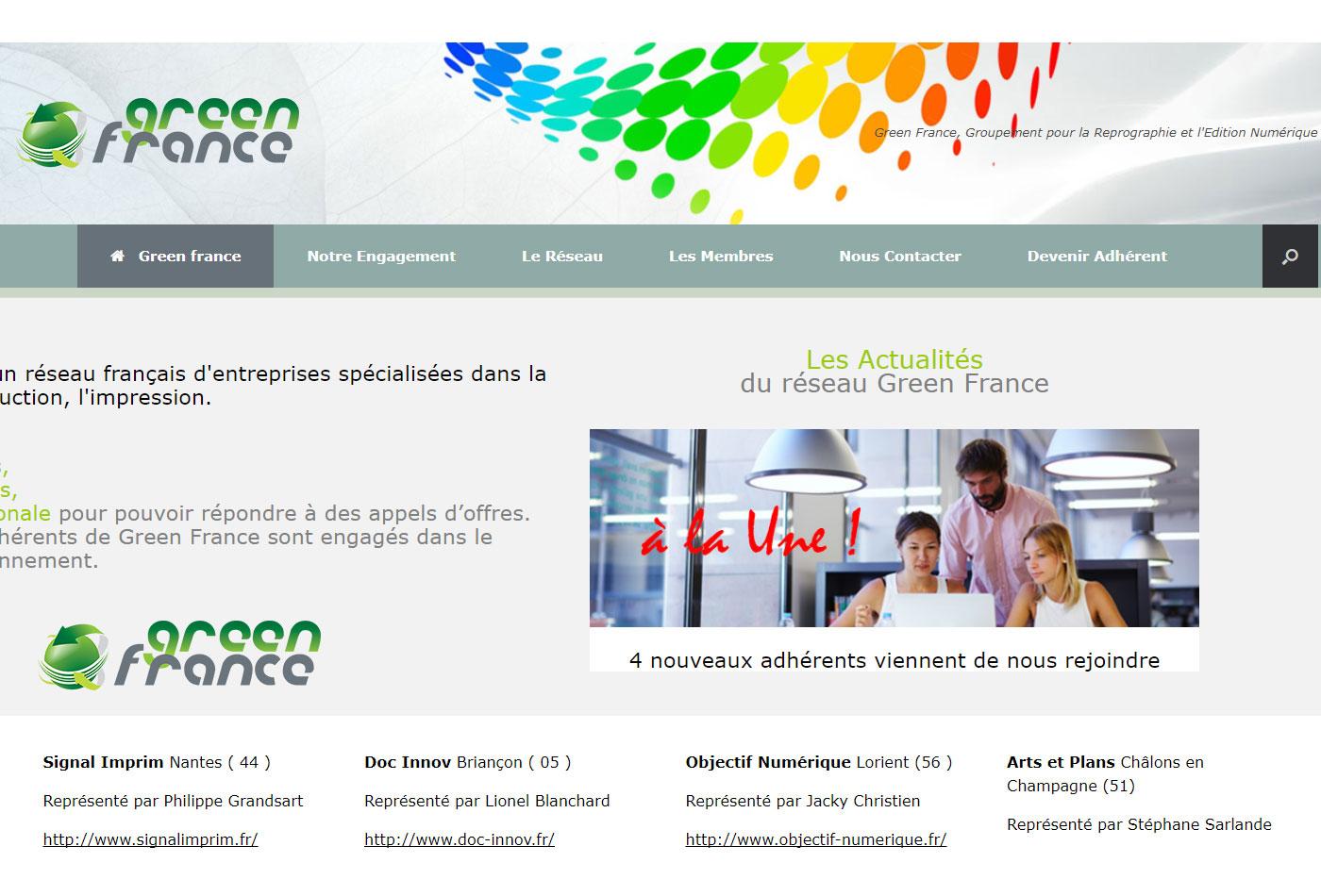 Site web Réseau national avec cartographie