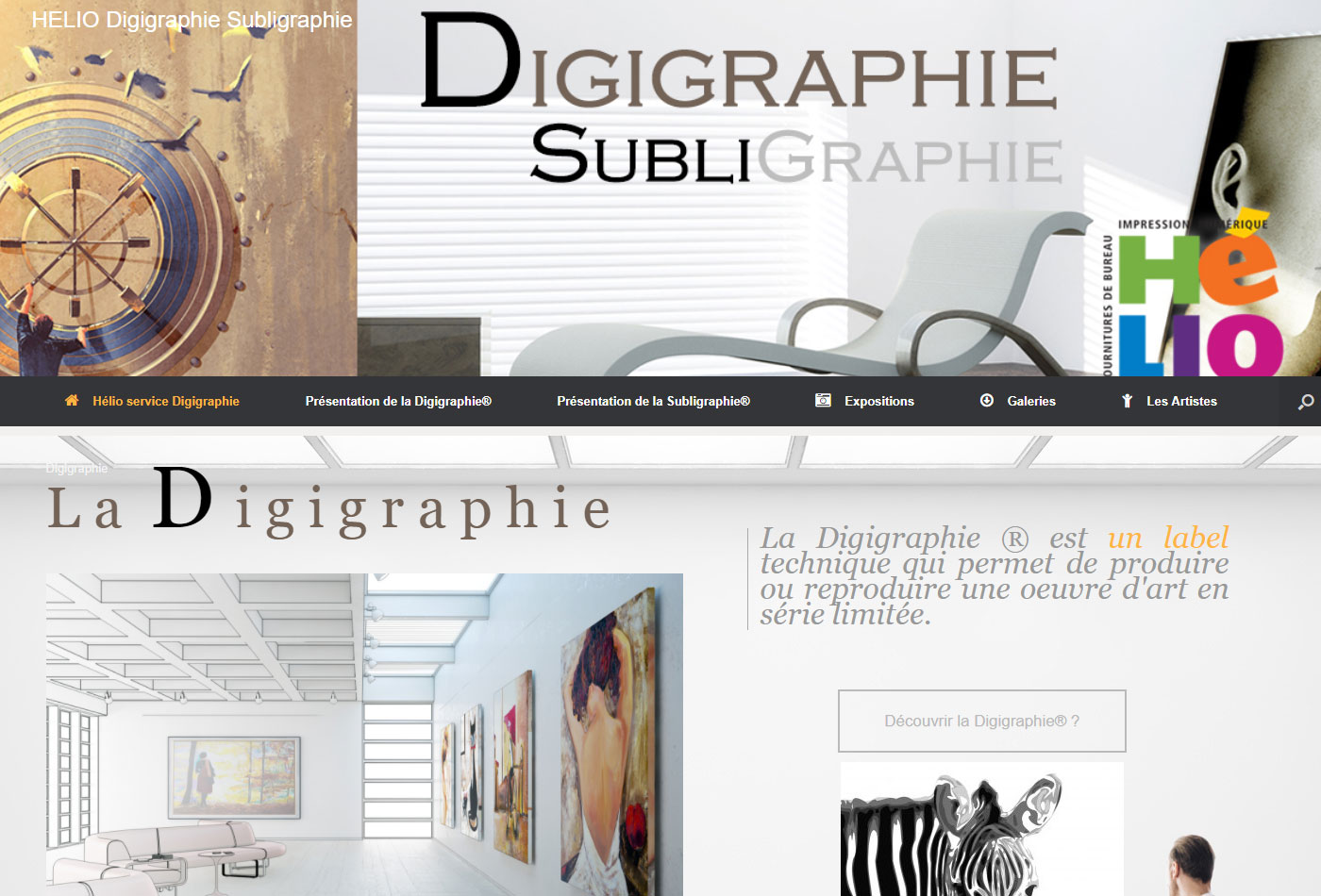 Site web vitrine Art Design