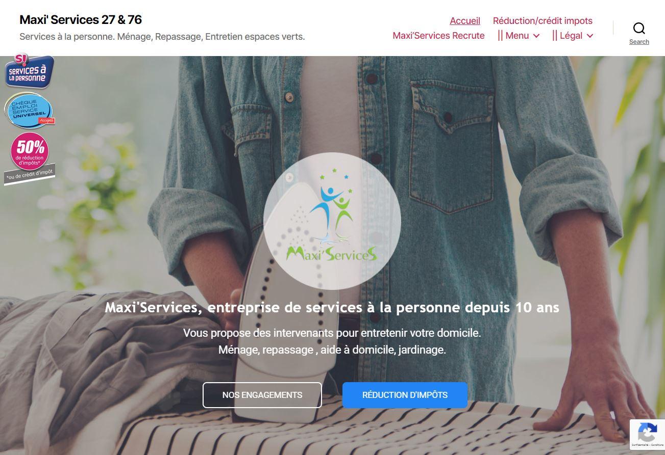 Maxi' Services 27 & 76 Services à la personne. Ménage, Repassage, Entretien espaces verts